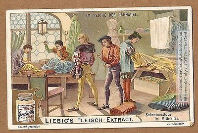 Clothing Craft Sewing Tailor Shop Middle Ages 1903 Trade Ad Card