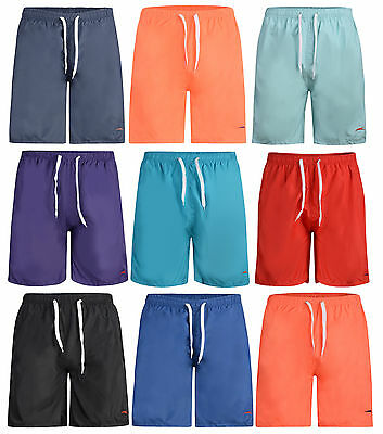 Mens Swim Shorts Mesh Lined Swimming Shorts 9 Colours With Logo Bnwt