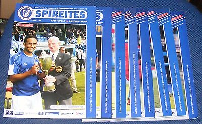 Chesterfield Home Programmes  2009-2010
