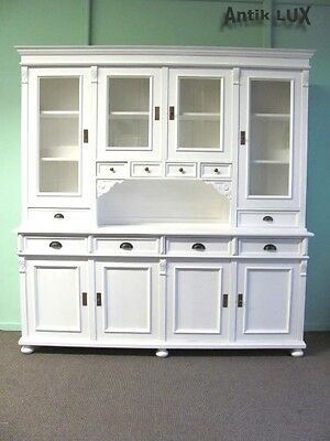 traumhaftes Jugendstil Buffet Shabby-Chic in Weichholz Shabby Chic weiss