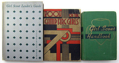 Lot 3 Vintage Girl Scout Campfire Girls books handbook Leader's Guide 1936 1955