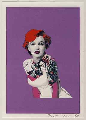 2012 Marilyn Monroe Tattoo Japon Punk Busty Street Sérigraphie Signée Certificat