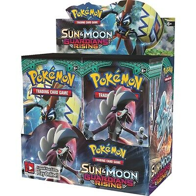 Pokemon TCG Sun & Moon: Guardians Rising Booster Box (36 Packs) - Brand New!