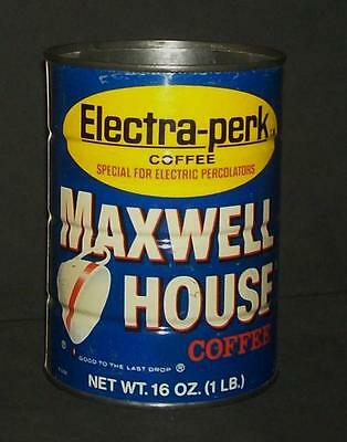Vintage Maxwell House Coffee Electra-Perk One Pound 16 oz Can