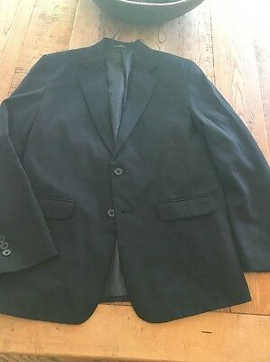 Van Heusen Boy's Blazer Jacket Black Fully Lined 16 H Husky Sport Coat