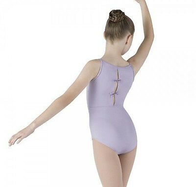 NWT Dance Mirella Lilac Cami Leotard Beaded Dragonfly Back Med Child 8-10 M266C