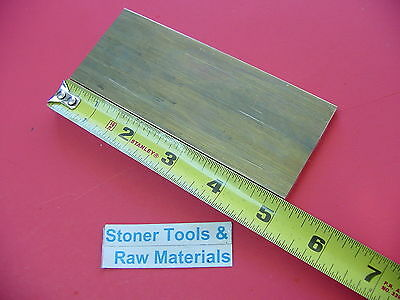 "1/4"" x 2"" C360 BRASS FLAT BAR 5"" long Solid .250"" Plate Mill Stock H02"