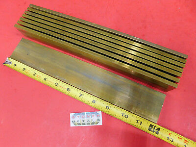 "8 Pieces 1/4"" x 2"" C360 BRASS FLAT BAR 12"" long Solid Mill Stock H02 .25""x 2.00"""