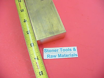 "1/4"" x 2"" C360 BRASS FLAT BAR 6"" long Solid .250"" Plate Mill Stock H02"