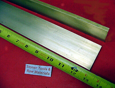 "2 Pieces 1/4"" x 2"" C360 BRASS FLAT BAR 13"" long Solid .250"" Plate Mill Stock H02"