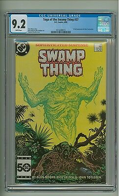 Saga of the Swamp Thing 37 (CGC 9.2) White pages; 1st John Constantine (c#13937)