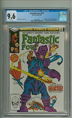 Fantastic Four 243 (CGC 9.6) White pages; Classic Galactus-c by Byrne (c#13929)