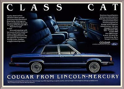 LINCOLN MERCURY, COUGAR, Class Cat, Ford, 4 Door, Vintage 1981 PRINT AD