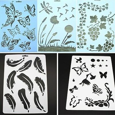 3Pcs DIY Craft Layering Stencils For Walls Painting Scrapbooking Stamps Album