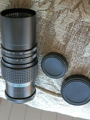 Vintage Paragon 1:4.5 f=200mm Telephoto Lens # 63979, Manual Preset, M42 Mount