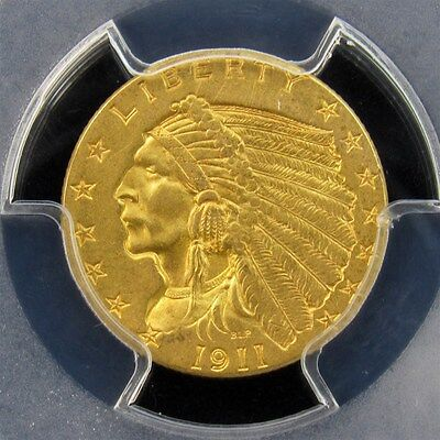 1911 Indian Head Gold Quarter Eagle - PCGS MS61 - Certified & Graded $2.5