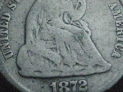 1872 Seated Liberty Half Dime- Old Type Coin