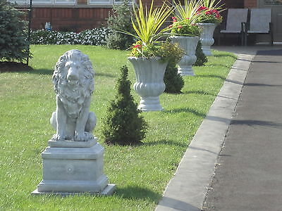 "Concrete Latex Fiberglass Mold XL Large 40""Lion/Pedestal Statue 2 molds"