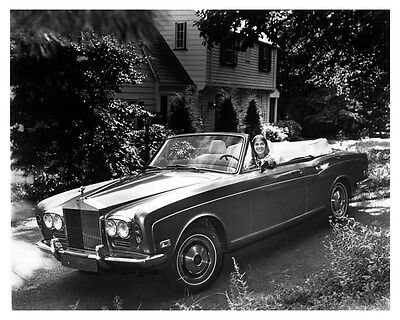 1972 Rolls Royce Corniche Convertible Factory Photo uc0827