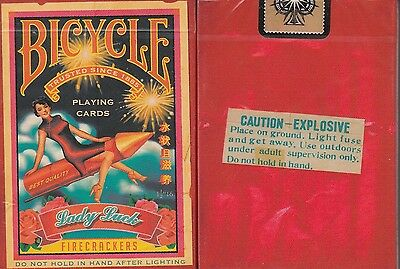 Firecracker Bicycle Playing Cards Poker Size Deck USPCC Custom Limited Sealed