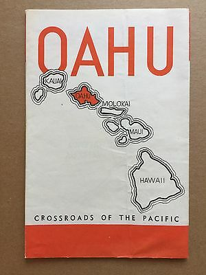 Original 1930's Map Group OAHU Tourist Bureau Excellent! Hawaii