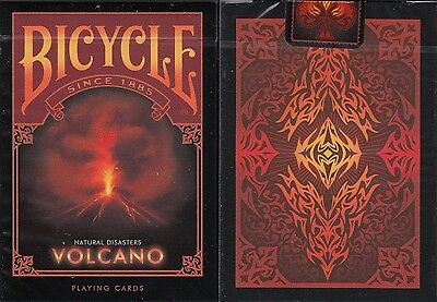 Volcano Bicycle Playing Cards Poker Size Deck USPCC Natural Disasters Series New