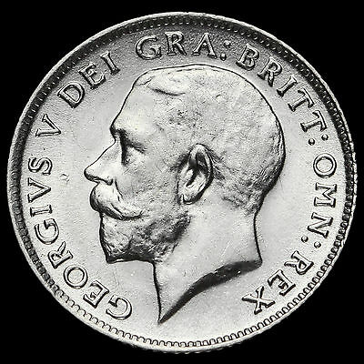 1914 George V Silver Sixpence, EF