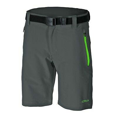 F.LLI Campagnolo Boys Hiking Leisure Stretch Bermuda Shorts grey green