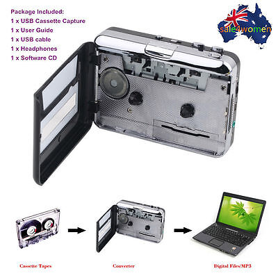 Tape to PC USB Cassette + MP3 CD Converter Capture Digital Audio Music Player L^