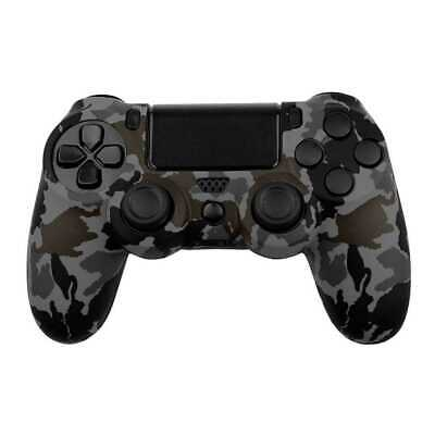 Funda de Silicona Gel Flexible para Mando Dualshock PS4 FAT/Slim/Pro Gris Oscuro
