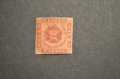 DANISH WEST INDIES 1856 COAT OF ARMS 3 CENT gomme brune neuf *