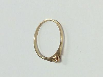 Goldsmith HkU, Finland: Vintage 14k Gold Ring w/ small Diamond. From 1986