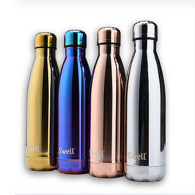 Hand Painted NIB S'WELL Drink Water Bottle Stainless Steel Thermal Swell Bottle