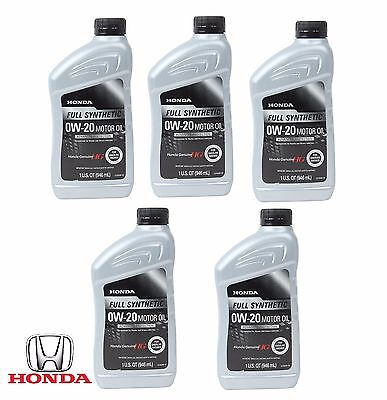 5-Quarts MDX ZDX Avalon Engine Oil 0W-20; Full Synthetic; Genuine 08798-9063