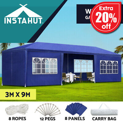 Instahut 3x3m Wedding Gazebo Party Tent Marquee Canopy Shade Outdoor Event