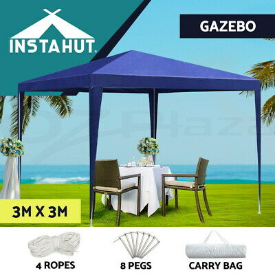 Instahut 3x9m Wedding Gazebo Party Tent Marquee Canopy Shade Outdoor Event