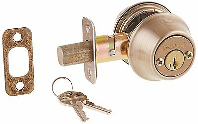 Kwikset 665-S Double Cylinder Deadbolt with SmartKey from the 660 Series, Brass