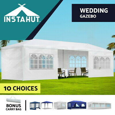 Gazebo Party Wedding Marquee Event Pavilion Tent Shade Canopy Camping White