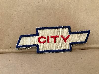 "Vintage 1950/60's Embroidered City Chevrolet Jacket Patch  4.75"" X 1.75"""