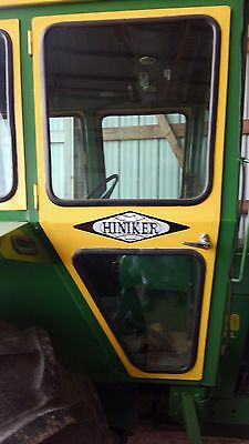 "Hiniker Tractor Cab Decals.  Set Of (3)  Vinyl. 4 3/4"" X 17"".  No Model Numbers"