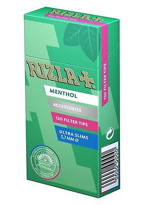 1 5 10 20 x 120 Rizla Ultra Slim Menthol Filter Tips Smoking Rolling