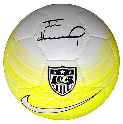 Tim Howard Signed Authentic Team USA Nike Yellow Soccer Ball JSA+Howard Holo