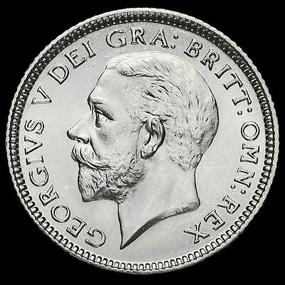 1927 George V Silver Sixpence, Third Coinage, ME, Scarce, BU