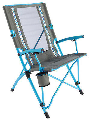 Coleman Bungee Sling Chair Blue Camping Fishing Beach Festival Holiday