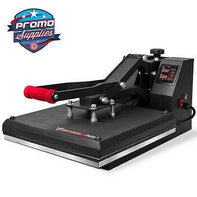 "Heat Press T-Shirt Heat Transfer Sublimation Machine 15"" x 15"" Clamshell - Black"