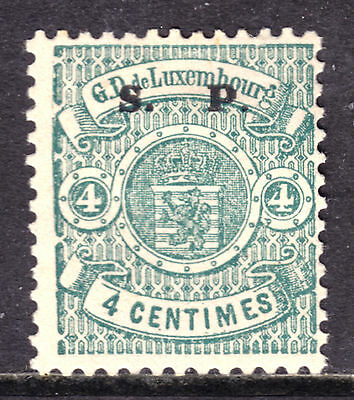 "LUXEMBOURG #O41 4c GREEN, 1882 ""S P"" OVERPRINT OFFICIAL, F, OG, HINGED"