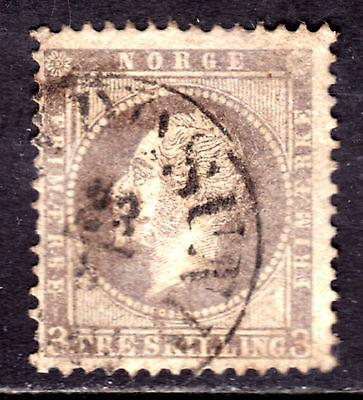 NORWAY #3 3s LILAC, 1857, F, CDS