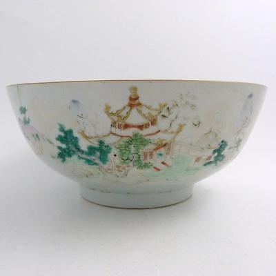 Chinese Famille Rose Porcelain Punch Bowl, 18Th Century
