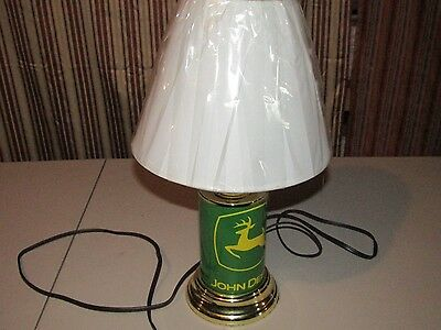 New John Deere Lightweight Metal Table Lamp with Shade