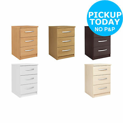 Collection New Hallingford 3 Drawer Bedside Chest - Choice of Colour. From Argos